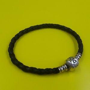 Authentic Pandora leather brown bracelet